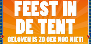 Kerkdienst in de tent